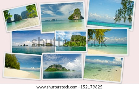 collections of Krabi, Andaman sea,Thailand - stock photo