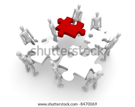 Collective works - stock photo