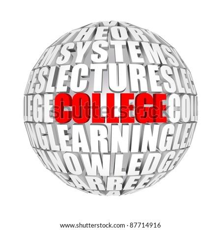 college - stock photo