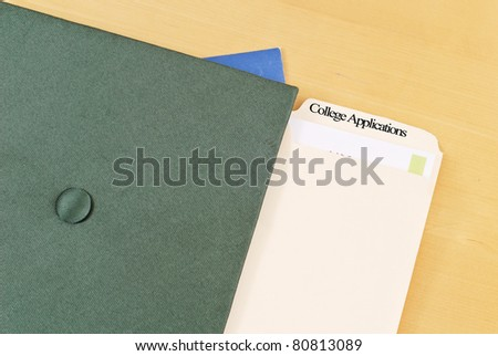College Applications - stock photo