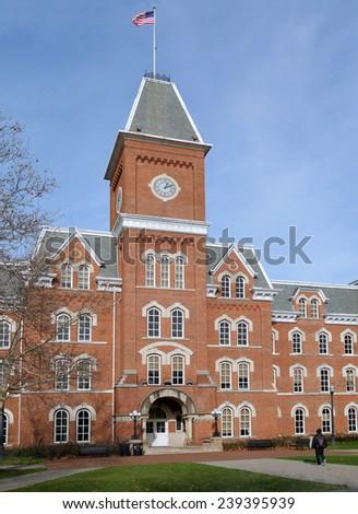 college building - stock photo