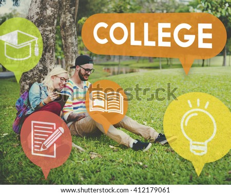 College Education Knowledge Insight Studying Learning Concept - stock photo