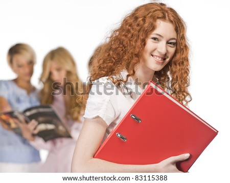 College Girls isolated - stock photo