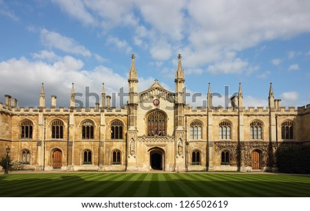 College of Corpus Christi and the Blessed Virgin Mary in Cambridge, UK. - stock photo