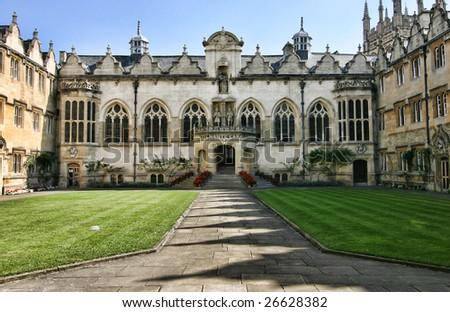 College of Oxford University, Oxford, England - stock photo