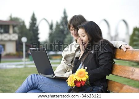 College people - stock photo