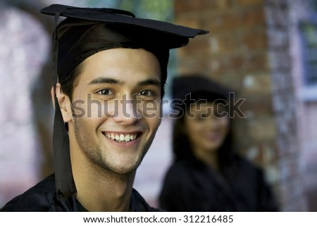 College student at graduation ceremony