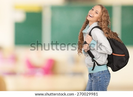 College Student. Beautiful Asian Student - stock photo