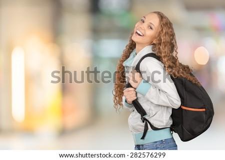 College Student, Student, University. - stock photo