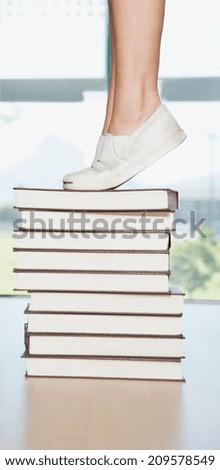 college student study - stock photo