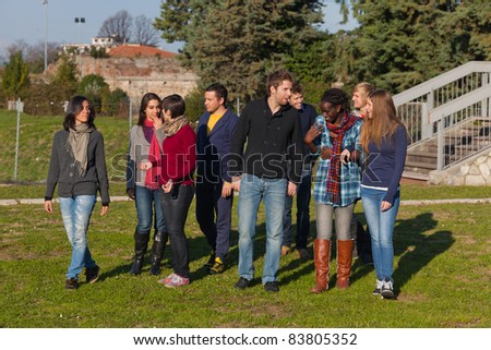 College Students at Park
