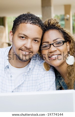 college young couple - stock photo