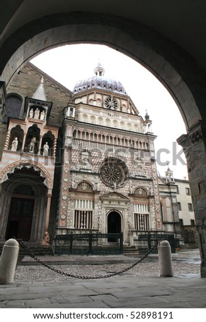 Colleoni chapel in Upper city, Bergamo, Italy - stock photo