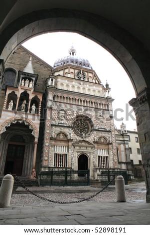 Colleoni chapel in Upper city, Bergamo, Italy - stock photo