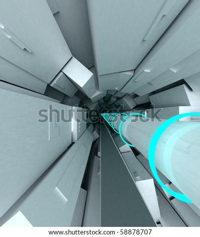 Collider cgi - stock photo