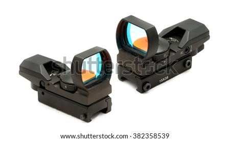 Collimator (reflex) sight isolated from background