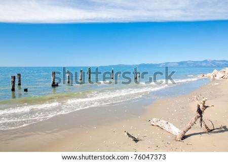 Collingwood Beach South Island New Zeland - stock photo