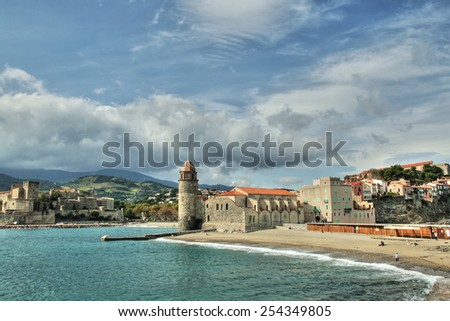 Collioure in Pyrenees orientales, Languedoc region of france