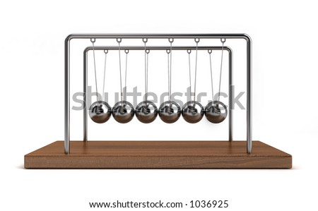 Collision balls. - stock photo