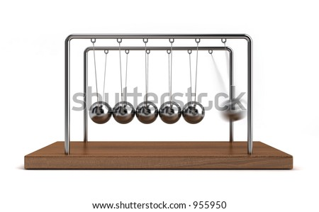 Collision Balls in action - stock photo