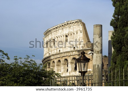 collosseum colosseum rome italy historic famous site with columns