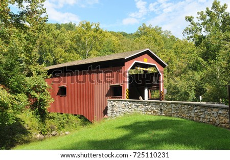 Colmanville Covered Bridge in Martic, Lancaster County, PA
