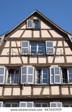 Colmar, Historic half-timbered house on the Place de l'Ancienne Douane, France