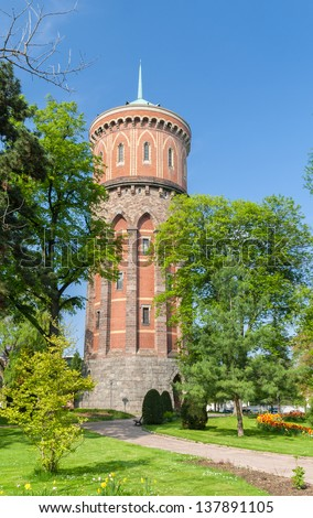 Colmar water tower - Alsace, France - stock photo