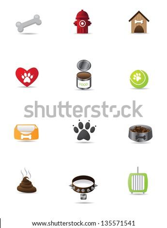 Colo Dog Icon Set Collection Group. jpg - stock photo
