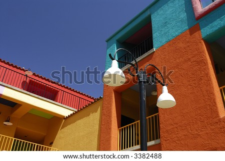 Coloful Tucson Buildings - stock photo