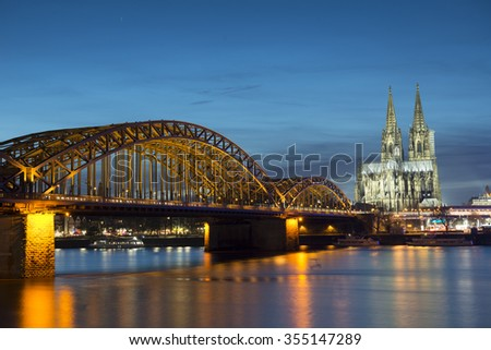 Cologne at night , Germany
