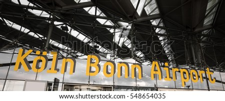 cologne bonn airport sign in germany
