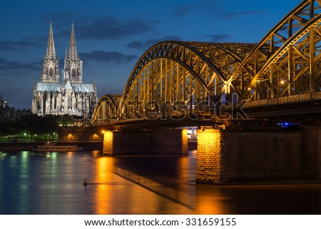Cologne Cathedral at Night, Long Exposure