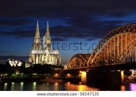 Cologne Cathedral (German: Kolner Dom, officially Hohe Domkirche St. Peter und Maria) is a Roman Catholic church in Cologne, Germany. - stock photo
