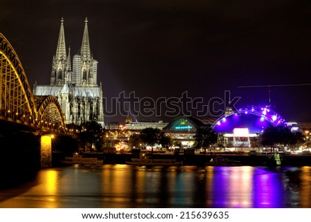 Cologne Cathedral in Cologne, Germany.  - stock photo