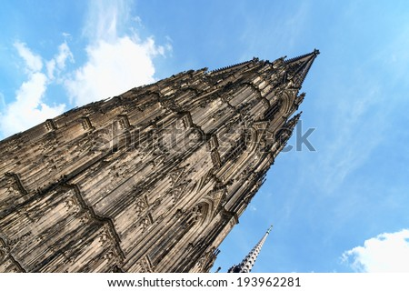 Cologne Cathedral in Gothic style, dedicated to the saints Peter and Mary. It is the seat of the Catholic Archbishop of Cologne. Cologne Cathedral is the greatest Gothic cathedral in Germany.