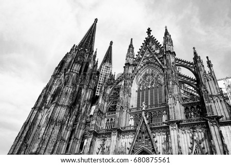 Cologne Cathedral Of Saint Peter And Mary Exterior Famous Church In Germany Seat