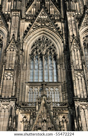 Cologne cathedral of Saint Peter and Mary. Famous church. Seat of Archbishop. UNESCO World Heritage Site. - stock photo