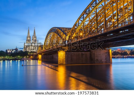 Cologne city skyline Germany - stock photo