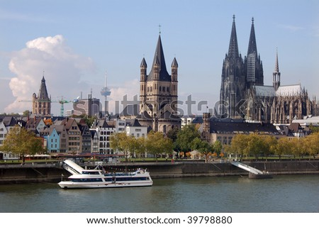 Cologne cityscape - stock photo