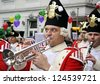 COLOGNE, GERMANY - FEBRUARY 27: Unidentified musicians in the Carnival parade on February 27, 2006 in Cologne, Germany. This parade is organized yearly. - stock photo