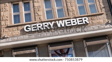 "COLOGNE, GERMANY OCTOBER, 2017: Store of the clothing company ""Gerry Weber"", Gerry Weber manages 1,000 own stores with brands Taifun, Samoon and Hallhuber."