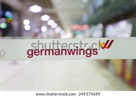 COLOGNE, GERMANY - SEP 18: airport interior on September 18, 2014. Cologne Bonn Airport is the international airport of Cologne and also serves the former German capital, Bonn - stock photo
