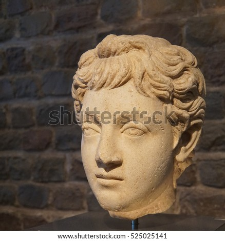 COLOGNE, GERMANY - SEP 15, 2016 - Bust of Roman Emperor Commodus,  Roman - Germanic Museum,  Cologne, Germany