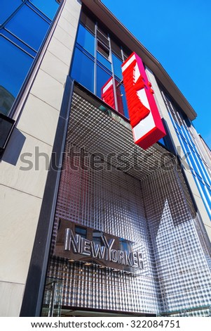 COLOGNE, GERMANY - SEPTEMBER 29, 2015: NewYorker store in Cologne. NewYorker is an international fashion label based in Braunschweig. By Apr 2011, the company owned nearly 857 branches in 36 countries