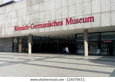 COLOGNE - SEPT 22: Roman-Germanic Museum on sept 22, 2012 in cologne. It has a large collection of Roman artifacts from the earliest Roman settlement of Colonia Claudia Ara Agrippinensium