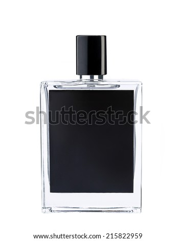 Cologne water / studio photography of perfume bottle - isolated on white background  - stock photo