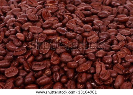 Colombian Coffee Bean Background - stock photo