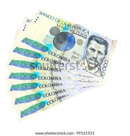 Colombian Money - stock photo