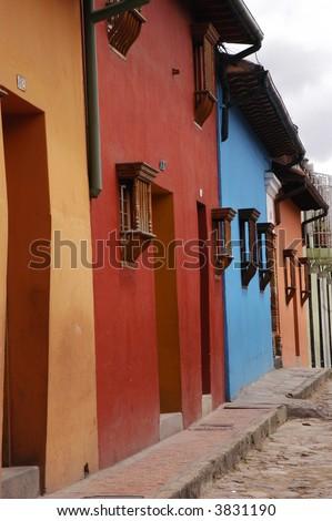 Colombian Street - stock photo